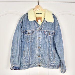 Vintage Levis Oversized Acid wash Denim Jacket XXL